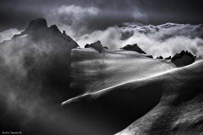 Mt. Kolåstinden in mystery fog