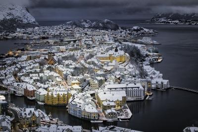 Vintervær i Ålesund